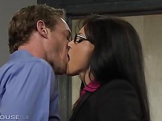 Ultra Foxy Milf India Summer goes for Hot together with Dirty Office Sex upon Stockings & Glasses