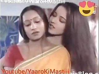 Indian Monalisha together with Bhabhi Lesbian  sex